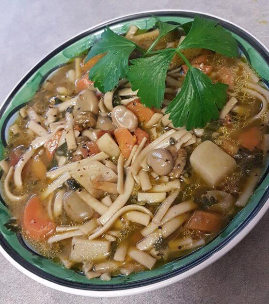 vegan-food-adelaide-italian-style-broad-bean-Fava-veg-w-linguine-pasta