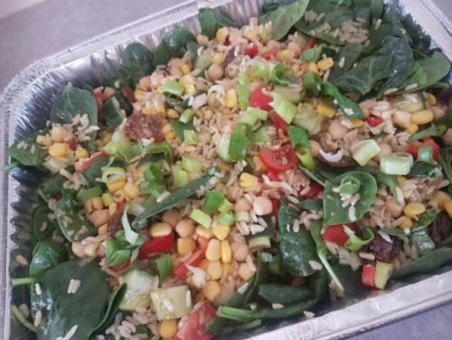 Brown Rice Chickpea Salad (GF)