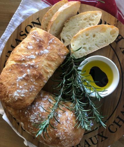 Artisan Ciabatta Bread Loaf