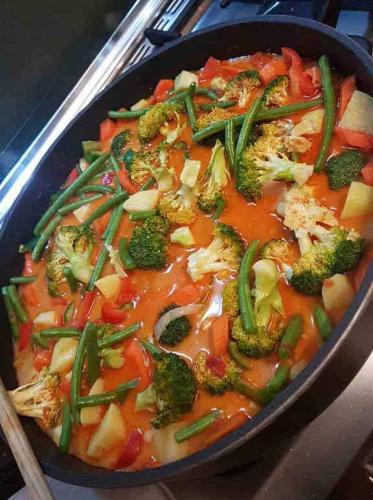 Coconut Veg Curry with Basmati Rice (GF)