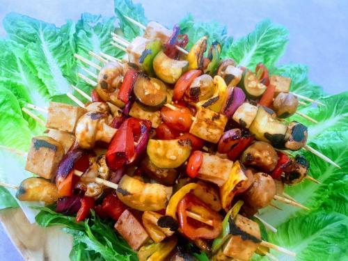 Tofu Veg Kabobs (GF)